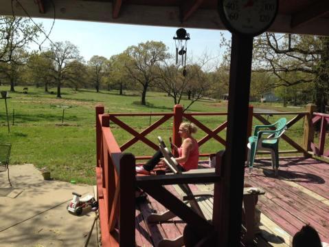 granddad porch before